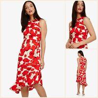 Phase Eight Dress Size 8   Dorothy Poppy Frill Hem    BNWT   £130 RRP   New!