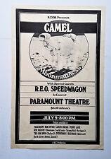 *Original* 1976 CAMEL moonmadness with REO SPEEDWAGON RARE Concert POSTER