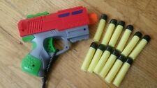 TOY GUN WITH 12 FOAM BULLET DARTS TESTED