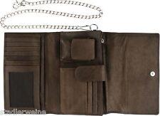 Zippo Geldbeutel / Leder Mocca / 17 x 10 x 5 / Zippo-Feuerzeugfach / Kette 60 cm