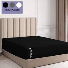 Extra Deep 35cm Fitted Sheets Queen King Size Soft Microfiber Mattress Bed Cover