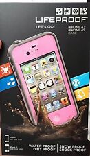 NEW iPhone 4/4s Pink Plain LIFEPROOF CASE