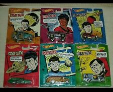 2014 Hot Wheels Pop Culture P Case Complete Set of six 1:64 Star Trek  Series