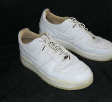 Nike Air Force 1 LUX Italian Leather White Straw 310276 111 Size 12 2004 EUC
