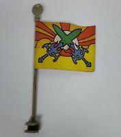 MOTU Castle Grayskull Flag & Flag Pole Masters of the Universe Accessory 1982