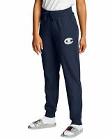 Champion Women's Sweatpants Joggers Fleece Powerblend Chainstitch Big C Logo