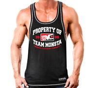 New Men's Monsta Clothing Fitness Gym Racerback - Property of Team Monsta