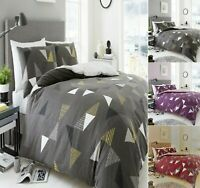 Designer MARCO TRIANGLE Printed Reversible Duvet Quilt Cover Bed Set All Size
