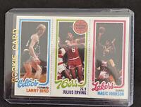 Larry Bird  Julius Erving Magic Johnson RC  1980-81 Topps  (reprint)