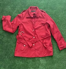 New listing Zara Basic Red Smart Tench Style Jacket UK S/M