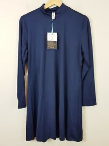 [ MARINA ] Womens Navy Modest Swim Top /Rash Shirt NEW + TAGS  | Size M or AU 12