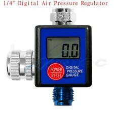 """Aluminum 1/4""""Digital Air Pressure Regulator Psi Ba Kpa Kg/CmÌ"""" For Spray Gun Tool"""
