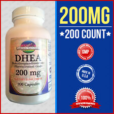DHEA 200MG Dehydroepiandrosterone-Pharmaceutical Grade-Diet 200 Capsule Made USA