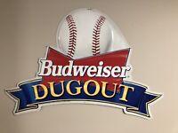 1994 BUDWEISER DUGOUT BASEBALL Tin Beer SIGN