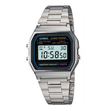 Casio A158WA-1DF Stainless Steel Resin Strap Watch