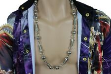 Gangster Men Long Fashion Necklace Silver Metal Balls Screw Tool Hip Hop Jewelry