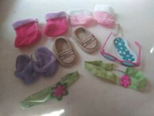 Lot of baby doll shoes booties & Accessories.