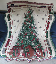 """COMING HOME Christmas Tree Tapestry / Throw USA-Made, 100% Cotton, 70""""x47"""""""