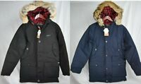 NEW WOOLRICH ARCTIC PARKA MENS BLACK NAVY 550 FILL DOWN BLEND JACKET AUTHENTIC