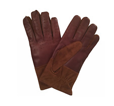 Paul Smith Gloves -BNWT 2-tone 100% leather & 100% Cashmere Lining Sz:S RRP:£200