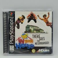WWF In Your House PS1 Playstation Game Complete and Tested Free Shipping