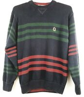 VTG Tommy Hilfiger Mens XL Striped Long Sleeve Pullover Color Sweater Sweatshirt