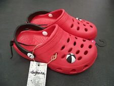 Bnwt Little Boys Sz 6 Rivers Doghouse Brand Red Clog Beach Sandals Shoes