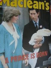 Maclean's July 5, 1982 Magazine- Prince William's Birth- Charles & Diana Cov