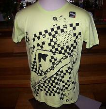 NEW Quiksilver yellow black slim fit short sleeve t shirt sz large L surf skate