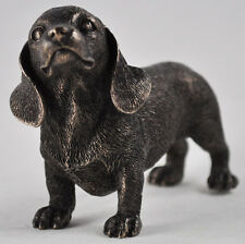 Dachshund Standing Cold Cast Bronze Sculpture Dog Home Decor or Gift Idea 33828