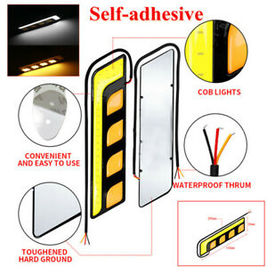 LED Car Light DRL Turn Signal Light Blade's Daytime Running Light Self-adhesive