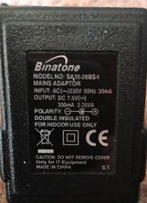 Genuine BINATONE - SA35-28BS-1 - 7.5V 300mA UK AC ADAPTER for PHONES