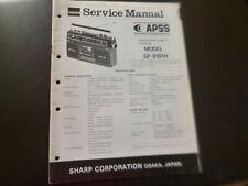 Original Service Manual Schaltplan  Sharp GF-8181H
