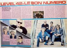 LEVEL 42 => 2 pages French 1986 CLIPPING //  COUPURE DE PRESSE