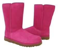 New NIB Ugg Michelle Classic UggPure (tm) Shearling Suede Fuchsia Pink Boot RARE