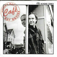 1 newspaper cardboard sleeve promo cd RAY DAVIES working mans cafe - ex the kink
