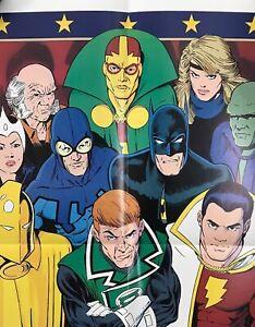 JUSTICE LEAGUE #1 SHAZAM! Batman Dr. FATE Comic PROMO POSTER 1986 GIFFEN Maguire