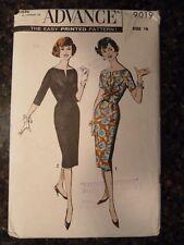 Advance 9019 Junior and Misses Dress Original 1959 Sewing Pattern size 16 Cut