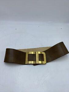 Christian Dior CD Logo Vintage 1960s Tobacco/brown Leather Belt