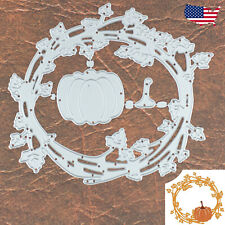 Thanksgiving Pumpkin Wreath Frame Cutting and Embossing Dies