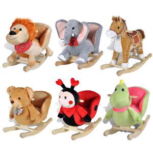 Schaukelpferd Schaukeltier Baby Kinder Schaukel Plüsch Spielzeug Stuhl Elefant