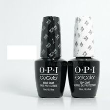 Opi Gelcolor Gel pour Ongles Vernis à Ongles Base & Top 14,8ml Chaque Pack Duo