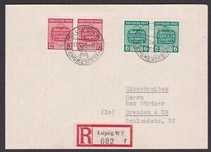 Germany. Soviet Zone. West Saxony. Registered Card to Dresden. Sent 17/11/1945