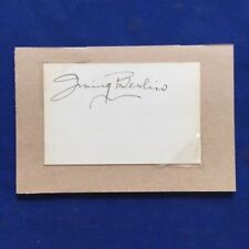AUTOGRAPH OF COMPOSER IRVING BERLIN