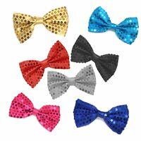 Pailletten Fliege Schleife Herren Damen Kinder Karneval Fasching Kostüm Krawatte
