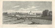 Stampa antica ROMA Chiesa di Santa Croce in Gerusalemme 1880 Antique print Rome