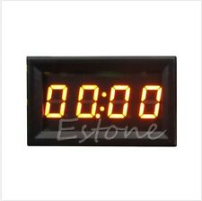 4 Digit 0.4 inch Orange LED Digital Electronic Clock for Car Night Vision