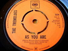 """THE TREMELOES - AS YOU ARE / SUDDENLY YOU LOVE ME   7"""" VINYL"""