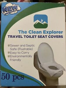 New!! The Clean Explorer -Travel Toilet Seat Covers Office, Gym, Restaurants 50