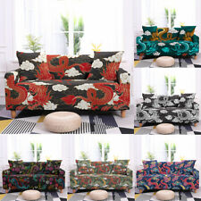Sofa Covers Stretchy Cloud Dragon Slipcover Printing Cover Protector Polyester